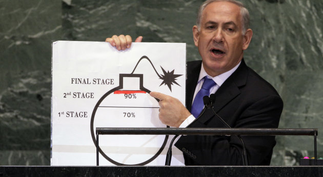 "Netanyahu says world must draw ""red line"" for Iran"