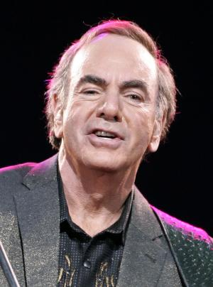 FILE - In this May 27, 2008 file photo, U.S. singer Neil Diamond performs during his concert in Munich, southern Germany.   Diamond has been chosen to receive the Kennedy Center Honors this year along with some of the biggest names from Broadway, jazz, classical music and Hollywood. (AP Photo/Christof Stache, file)