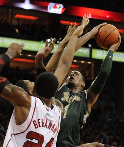 South Florida beats No. 19 Louisville 58-51