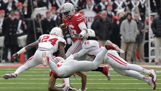 Marshall's return lifts Buckeyes by Hoosiers 42-27