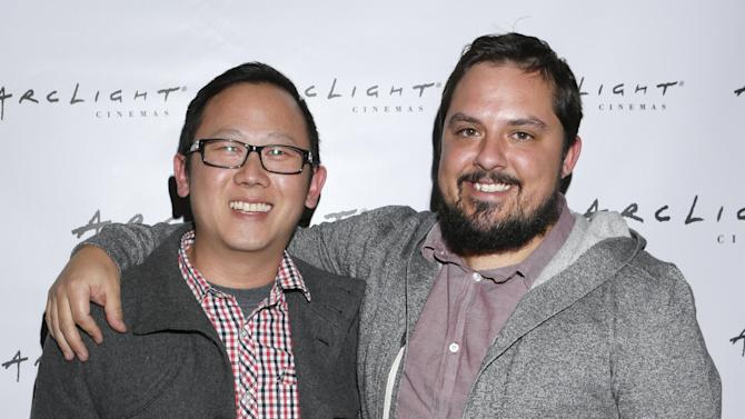 """Patrick Shen and Brandon Vedder from film """"La Source"""" attend Arclight Cinemas' 2nd Annual Documentary Film Festival Awards at the Arclight Hollywood on Saturday Nov. 10, 2012 in Hollywood, Calif. (Photo by Todd Williamson/Invision for Arclight Cinemas/AP Images)"""