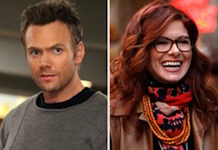 Joel McHale, Community and Debra Messing, Smash | Photo Credits: Justin Lubin/NBC; Will Hart/NBC