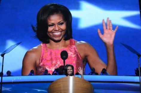 Bejubelte First Lady: Michelle Obama wird auf dem Parteitag der US-Demokraten in Charlotte (North Carolina) gefeiert