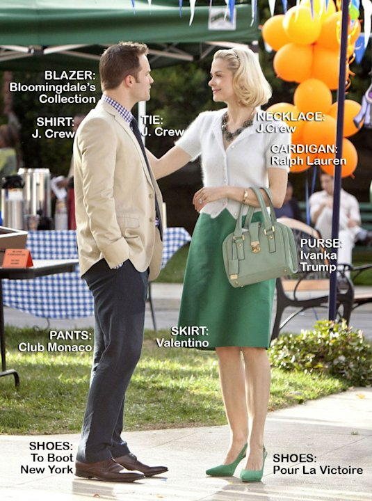 "Scott Porter as George Tucker and Jaime King as Lemon in the Season 1 episode ""Aliens and Aliases."" Hart of Dixie"