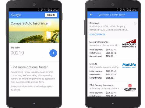 If you live in California, you can now buy car insurance with this Google tool