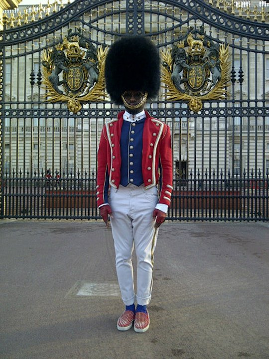 Celebrity photos: will.i.am really got into the Jubilee festivities last weekend and seemed pretty excited ahead of his performance at the Jubilee Concert. He tweeted this image of him standing outsid