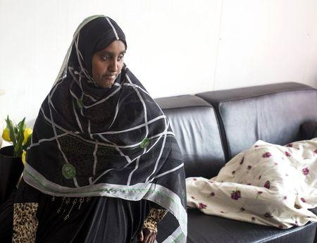 Somali asylum seeker Rahima is pictured during an interview in Amsterdam, the Netherlands