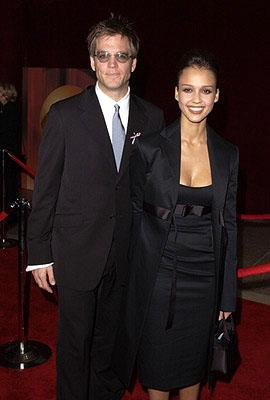 Michael Weatherly and Jessica Alba 53rd Annual Emmy Awards - 11/4/2001