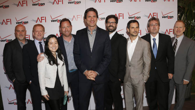 Crew of Modern Family attend the 13th Annual AFI Awards Luncheon at the Four Seasons Hotel Los Angeles at Beverly Hills on Friday, January 11, 2013 in Los Angeles. (Photo by Todd Williamson/Invision/AP)
