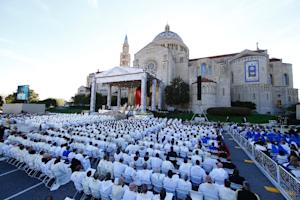 Pope Francis presides over a Canonization Mass for…