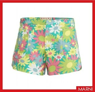 Marni floral printed shorts, $508, Courtesy of mytheresa.com