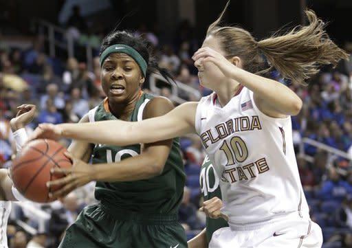 No. 23 FSU women top Miami 70-58 in ACC quarters