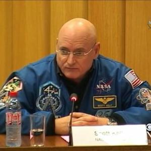 NASA astronaut on the longest manned space mission ever