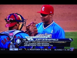 Justus Sheffield found a way to play in the Perfect Game All-American Classic -- Twitter