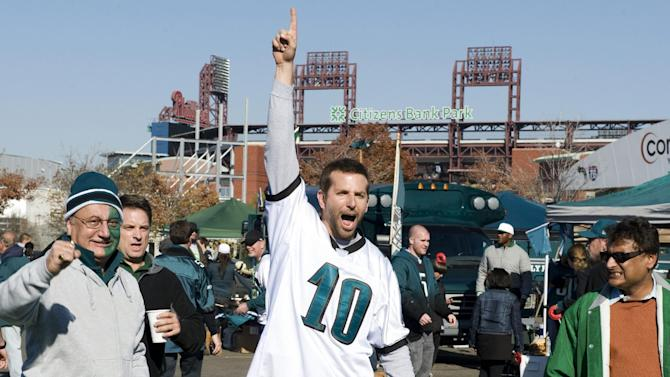 "This undated publicity film image provided by The Weinstein Company shows Bradley Cooper playing Pat Solatano in a scene from the film, ""Silver Linings Playbook."" The film was recently nominated for five Spirit Awards and is widely expected to be a best picture Oscar contender. (AP Photo/The Weinstein Company, JoJo Whilden)"