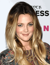 Drew Barrymore with the version of Ombre for lighter hair.
