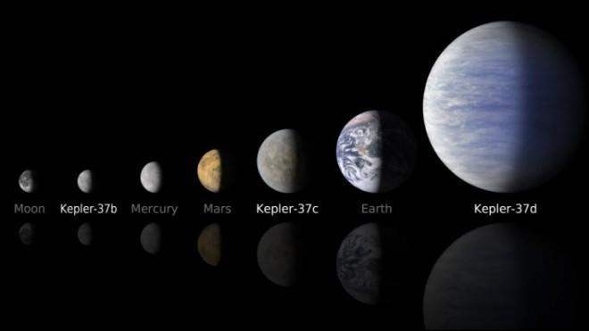 An artist rendering of the newly discovered planet Kepler-37b.