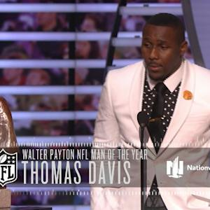 'NFL Honors': Carolina Panthers linebacker Thomas Davis wins Walter Payton Man of the Year Award