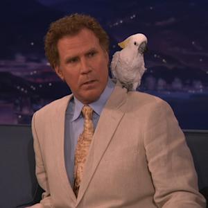 Will Ferrell Brings Bird on 'Conan', Doesn't Want to Talk About It