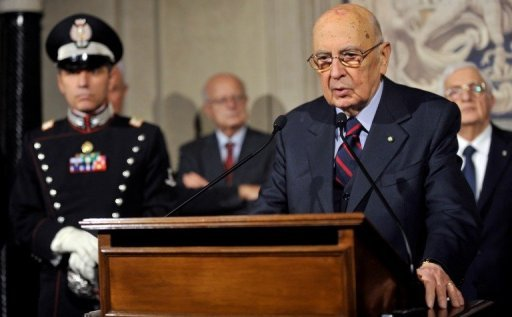 &lt;p&gt;Italy&#39;s President Giorgio Napolitano speaks at the Quirinale palace on Saturday after dissolving parliament. Italy&#39;s election campaign kicked off on Saturday amid uncertainty over whether Prime Minister Mario Monti will launch himself into the political fray and fight flamboyant billionaire Silvio Berlusconi for the top job.&lt;/p&gt;