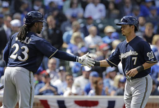 Brewers beat Cubs 7-4 to stop 5-game slide