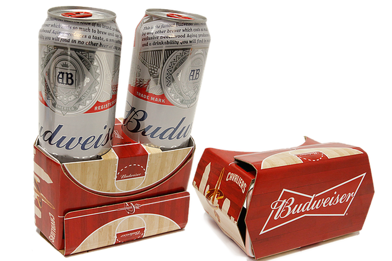 This Budweiser-themed VR headset can also carry your beer, for some inexplicable reason