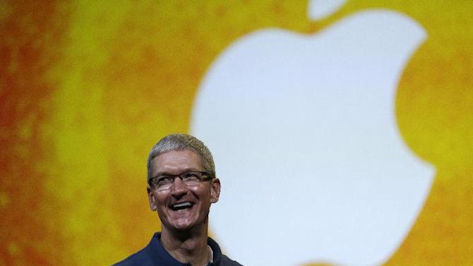 Apple CEO Tim Cook speaks during an event to announce new products in San Jose, Calif., Tuesday, Oct.  23, 2012. (AP Photo/Marcio Jose Sanchez)
