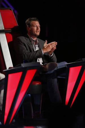 Blake Shelton in his coach chair on 'The Voice,' May 20, 2013 -- NBC