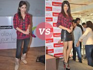 Vote: Soha Ali Khan Vs Priyanka Chopra in a Red Plaid Shirt