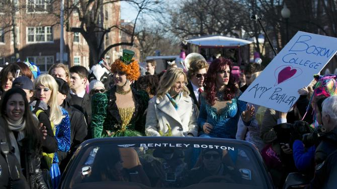 Actress and comedian Amy Poehler is honored with a parade and a roast as Hasty Pudding Theatricals Woman of the Year at Harvard University