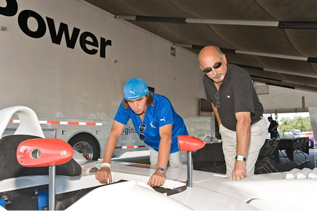 PGA TOUR Professional Golfers Test Drive A Collection Of BMW Vehicles On A Race Track At The 2011 BMW Championship
