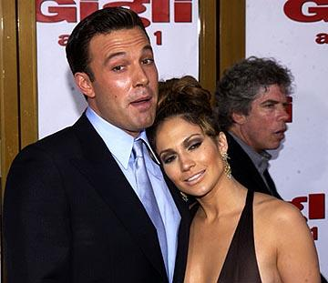 Ben Affleck and Jennifer Lopez at the LA premiere of Gigli