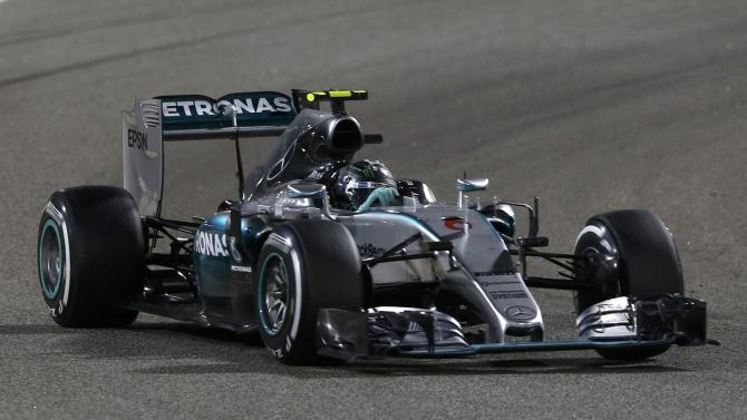 Mercedes Formula One driver Rosberg of Germany drives during Bahrain's F1 Grand Prix at Bahrain International Circuit