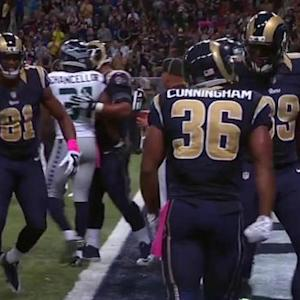 St. Louis Rams running back Benny Cunningham 5-yard touchdown catch