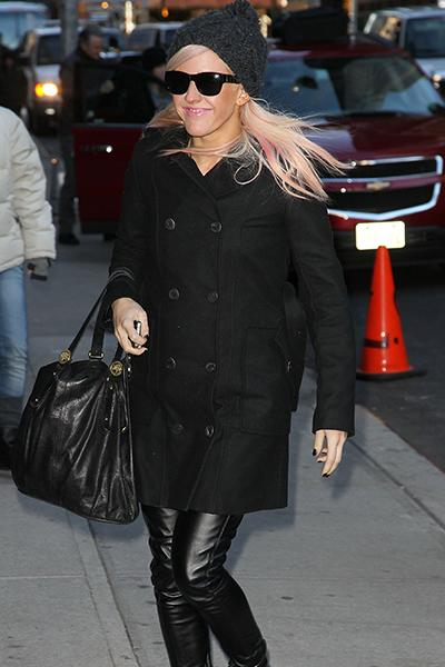 Arriving at David Letterman in January