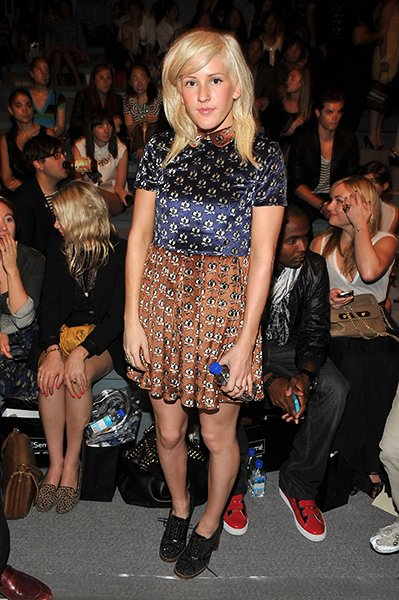 In the front row of the Charlotte Ronson Spring 2012 show