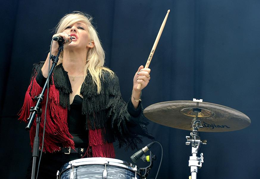 Performing at the V Festival in 2011