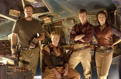 "Adam Baldwin, Alan Tudyk, Nathan Fillion and Gina Torres Fox's ""Firefly"" Firefly"