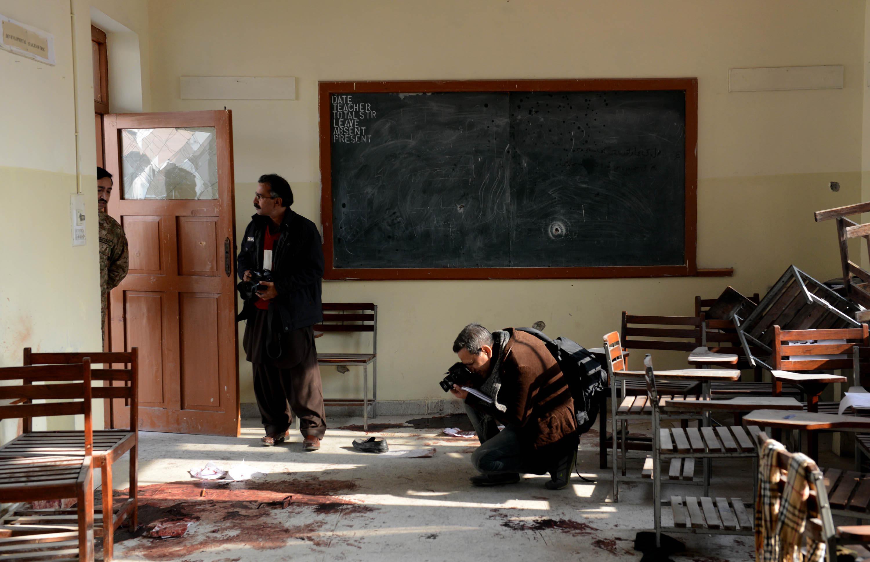 Two convicted militants executed as Pakistan strikes back after school massacre