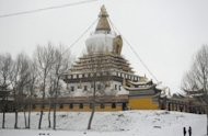 A Buddist monastery in Aba county, Sichuan province. Six Tibetans have set themselves on fire in China in the last two days in an escalating wave of protests as the country's leaders gather for a once-a-decade power transition, exile leaders said
