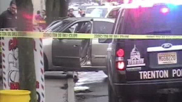 Woman shot in car with children inside in Trenton