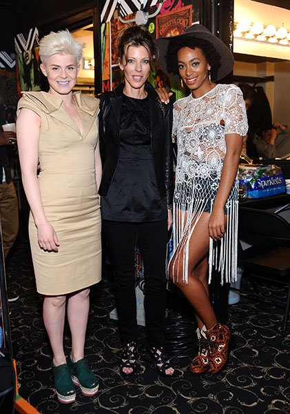 With Elle Magazine Editor-in-Chief Robbie Myers and Solange Knowles at ELLE's Second Annual Women In Music Concert in 2011