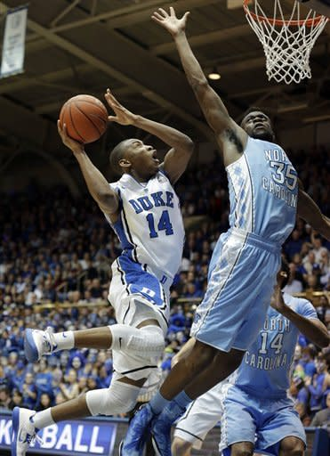 Plumlee leads No. 2 Duke past UNC, 73-68