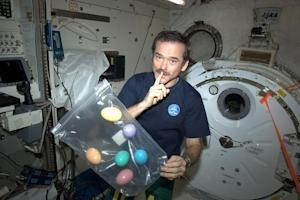 Astronaut Celebrates Easter in Space (Easter Eggs, Included)