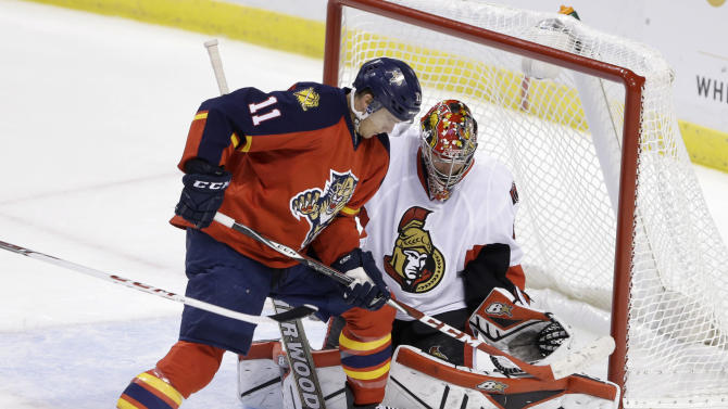 Anderson, MacArthur lead Sens over Panthers 1-0