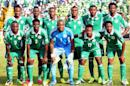 Nigeria pose before the World Cup African zone second leg play-off match against Ethiopia in Calabar on November 16, 2013