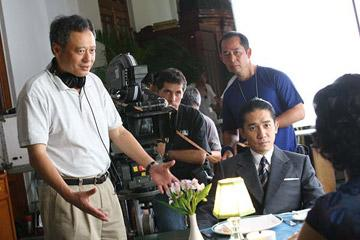 Director Ang Lee and Tony Leung Chiu-wai behind the scenes of Focus Features' Lust, Caution