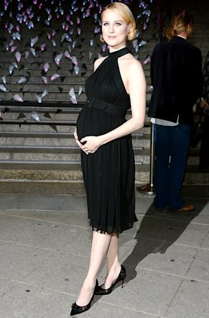 Evan Rachel Wood Emphasizes Growing Baby Bump in Clingy Halter Dress: Picture