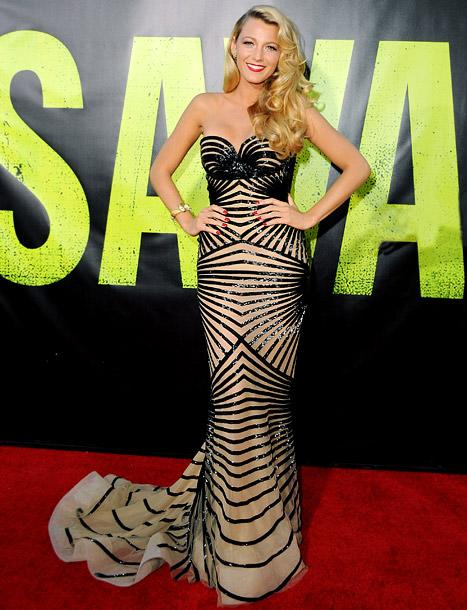 Blake Lively Flaunts Bombshell Curves at Savages Premiere