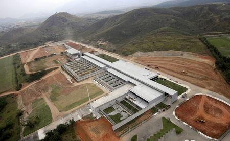 File photo of an aerial view of Olympic Shooting venue construction site at Deodoro Sports Complex for the Rio 2016 Olympic Games in Rio de Janeiro